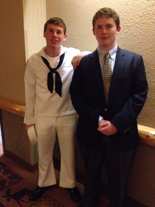 The Twins - Ready for Prom & modelling clothes they will be wearing at their camps this week.