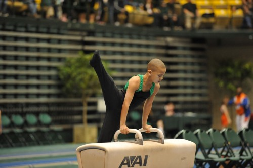 Competing on Pommel at the 2013 Astronaut Dave Brown meet