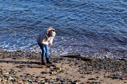 sea glass hunting
