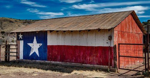 texas flag on building
