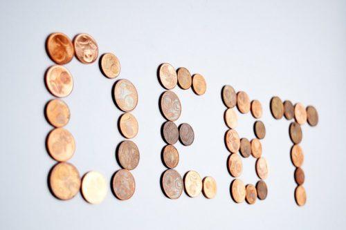 debt spelled in pennies