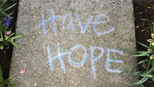 Inspirational Message on Sidewalk