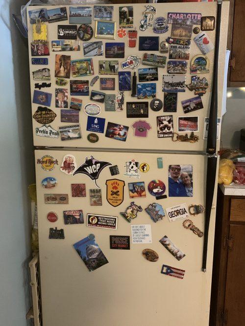 fridge full of magnets